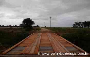 Ponte da Estrada da Charqueada, em Camaquã, recebe manutenção - Portal de Camaquã