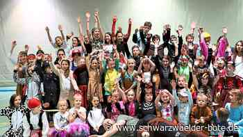 Dotternhausen: 50 Kinder toben beim Fasnetsturnen durch die Halle - Dotternhausen - Schwarzwälder Bote