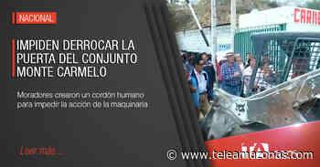 Moradores impidieron derrocar la puerta del conjunto Monte Carmelo - Teleamazonas