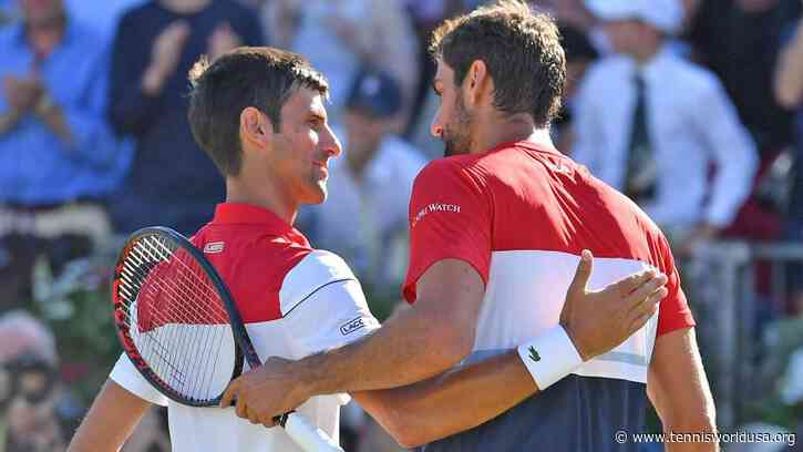 ATP Dubai: Novak Djokovic & Marin Cilic thrashed by top seeds in team debut - Tennis World USA