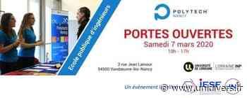 Journée Portes Ouvertes Polytech Nancy : samedi 7 mars 2020 Polytech Nancy Heillecourt 7 mars 2020 - Unidivers
