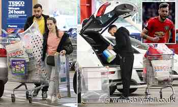 Bruno Fernandes and his wife stock up as Man United's £68m signing goes on shopping spree