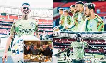 Manchester City train at the Wanda Metropolitano... while Pep Guardiola enjoys some tapas