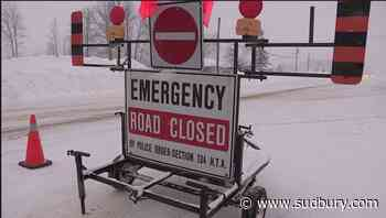 Numerous highways closed across northeast due to weather