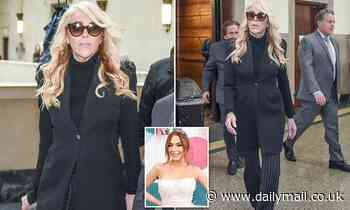 Lindsay Lohan's mother Dina arrives to court over DWI charge