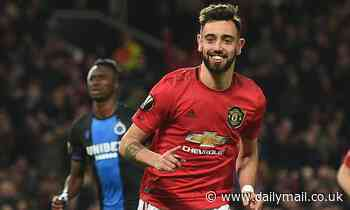 Manchester United 5-0 Club Brugge: Bruno Fernandes and Odion Ighalo fire United into last-16