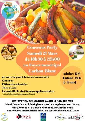 Couscous party par les juniors voyageurs Foyer municipal Carbon-Blanc 21 mars 2020 - Unidivers