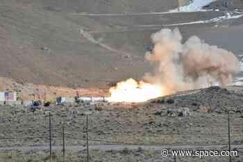 Northrop Grumman test fires new OmegA rocket second stage motor in Utah