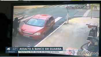 Ladrões armados roubam agência bancária em Guariba, SP - G1