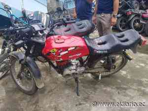 JIPIJAPA: Dos hombres fueron detenidos tras supuestamente robar una moto - El Diario Ecuador