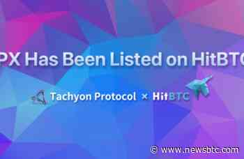 Tachyon Protocol's IPX Token Gets Listed on HitBTC - newsBTC