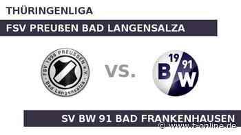 FSV Preußen Bad Langensalza gegen SV BW 91 Bad Frankenhausen: Spannung vor dem Rückrundenauftakt - t-online.de