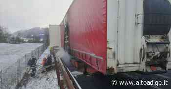 Vipiteno, camion a fuoco: A22 chiusa al traffico - Alto Adige