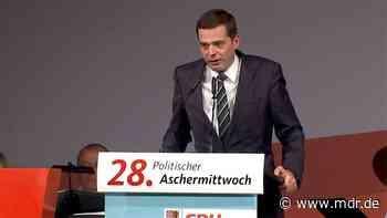 Apolda: Mohring erklärt Unterstützung für Merz-Kandidatur um CDU-Bundesvorsitz - MDR