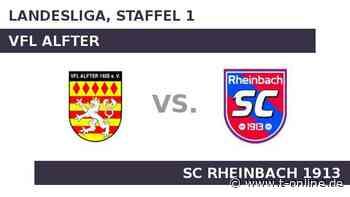 VfL Alfter gegen SC Rheinbach 1913: Alfter startet gegen Rheinbach - t-online.de