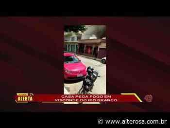 ZONA DA MATA Casa pega fogo em Visconde do Rio Branco - TV Alterosa