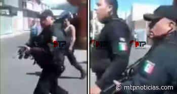 Así amenazaron con disparar policías de Acajete, Puebla, a ciudadanos, tras chocar su patrulla (VIDEO) - MTPNoticias