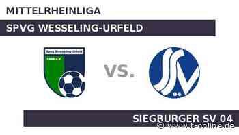Spvg Wesseling-Urfeld gegen Siegburger SV 04: Wesseling zum Auftakt gegen Siegburg - t-online.de