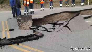 Cajabamba: rehabilitación de vía afectada por sismo tardará varios días - Canal N