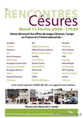 Rencontres Césures 2020 CentraleSupélec,campus Paris-Saclay – bâtiment Bouygues Gif-sur-Yvette 11 février 2020 - Unidivers