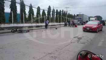 Motociclista herido, en carretera hacia La Jutosa, Choloma - hch.tv