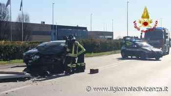 Tamponamento tra auto e furgone Un ferito - Il Giornale di Vicenza
