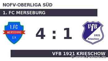 1. FC Merseburg gegen VfB 1921 Krieschow: Merseburg gewinnt und klettert - t-online.de