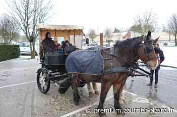 Les enfants du centre de loisirs de Corbie transportés en calèche - Courrier picard