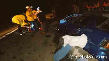 Un muerto y tres lesionados en accidente vial en Apastepeque - elsalvador.com