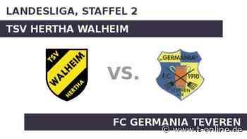 TSV Hertha Walheim gegen FC Germania Teveren: Teveren startet bei Walheim in die Rückrunde - t-online.de