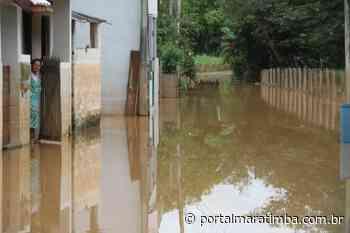 Casas alagadas em Mimoso do Sul-ES após Rio Itabapoana transbordar - Portal Maratimba