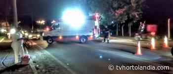 Motociclista e ciclista ficam feridos em acidente na Avenida Santana em Hortolandia - Waldir Junior