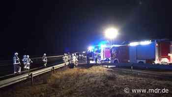 Stau auf der A4 bei Ottendorf-Okrilla nach einem Unfall - MDR