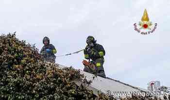 Incendio tetto di carrozzeria a San Giovanni Lupatoto - veronaoggi.it