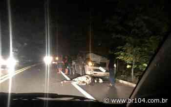 Em Murici, carro colide em vaca na BR-104 e motorista sai ileso - BR 104