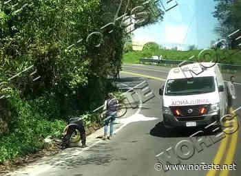 Joven muere en choque de moto contra camioneta, en Acajete - NORESTE