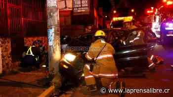 Bombazo contra poste en Calle Blancos lo manda al hospital - La Prensa Libre Costa Rica