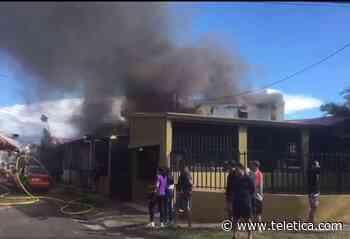 Coffee maker encendido provocó fuego que devoró casa en Calle Blancos - Teletica
