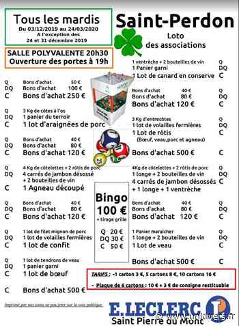 Loto des associations Saint-Perdon, 24 mars 2020 - Unidivers