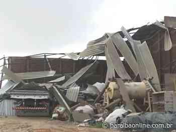 Chuva destrói galpão de mineradora em Soledade; ninguém ficou ferido - Paraíba Online