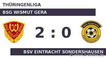 BSG Wismut Gera gegen BSV Eintracht Sondershausen: Wismut baut Serie aus - t-online.de