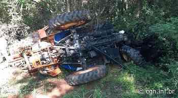 Caminhão e trator colidem na PR-281, entre Dois Vizinhos e Salto do Lontra - CGN