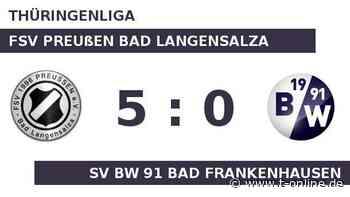 FSV Preußen Bad Langensalza gegen SV BW 91 Bad Frankenhausen: Bad Langensalza spielt mit Bad Franken - t-online.de