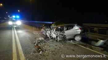 Grassobbio, scontro tra due auto in tangenziale: muore un uomo - Bergamo News - BergamoNews.it