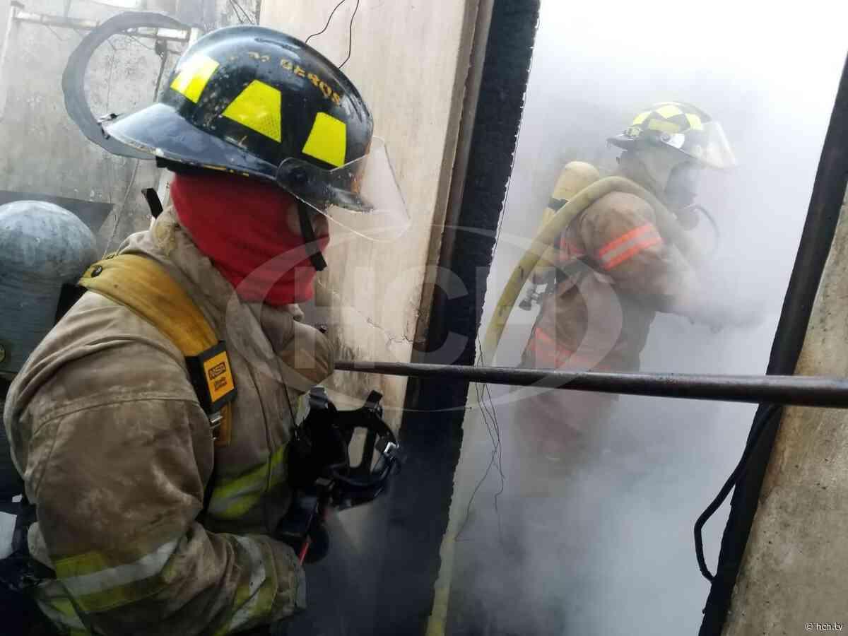 Bomberos atendieron incendio en vivienda de Flores, Villa de San Antonio - hch.tv