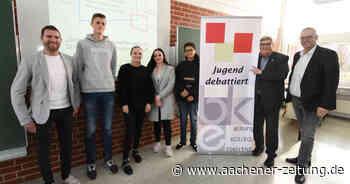Jugend debattiert Erkelenz: Leidenschaftlich, aber bitte sachlich - Aachener Zeitung