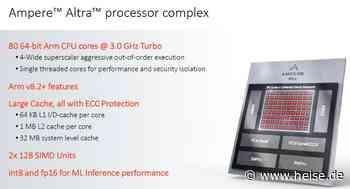 Ampere Altra: ARM-Prozessor mit 80 CPU-Kernen und reichlich PCIe 4.0 - heise online