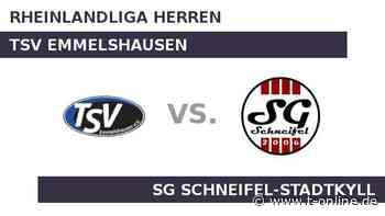 TSV Emmelshausen gegen SG Schneifel-Stadtkyll: TSV Emmelshausen weiter auf dem Vormarsch? - t-online.de