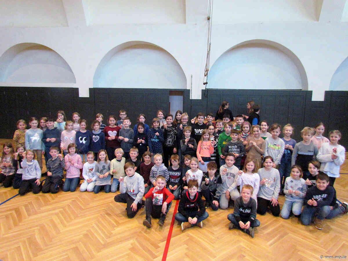 Deutsches Sportabzeichen: Grundschüler und Lehrer der Laiblinschule sind sportlich unterwegs - SWP