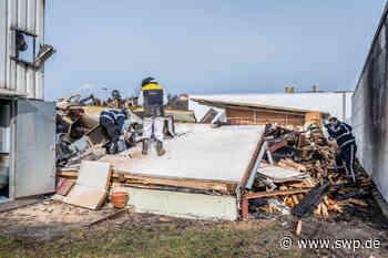 Großbrand in Donzdorf: Schreinerei stand in Flammen - SWP